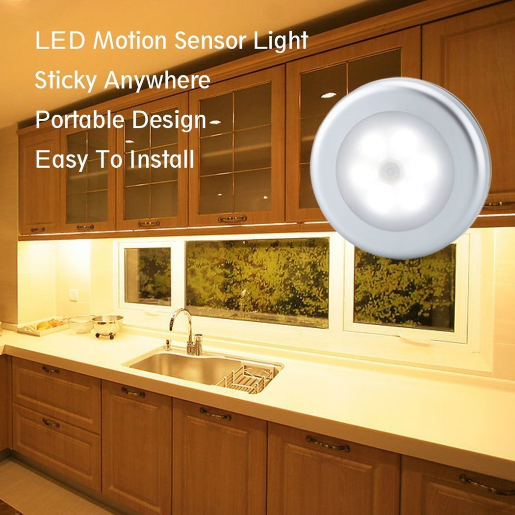 URPOWER Motion Sensor Closet Light, Motion-sensing Battery Powered LED Stick-Anywhere Nightlight,Wall Light for Entrance,Hallway,Basement,Garage,Bathroom,Cabinet,Closet