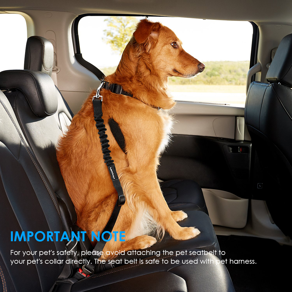 URPOWER Dog Seat Belts 2 Pack Pet Seat Belt for Vehicle Nylon & Elastic & Adjustable