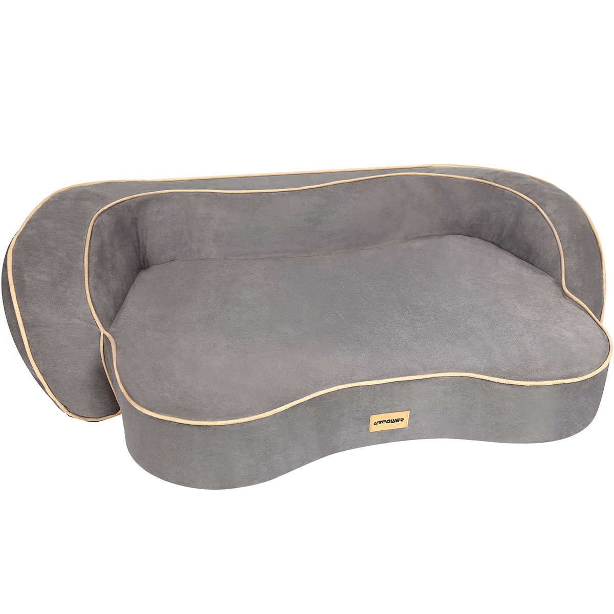 URPOWER Orthopedic Memory Foam Pet Bed with Washable Cover & Water-Resistant Inner Liner Padded Rim Dog Beds