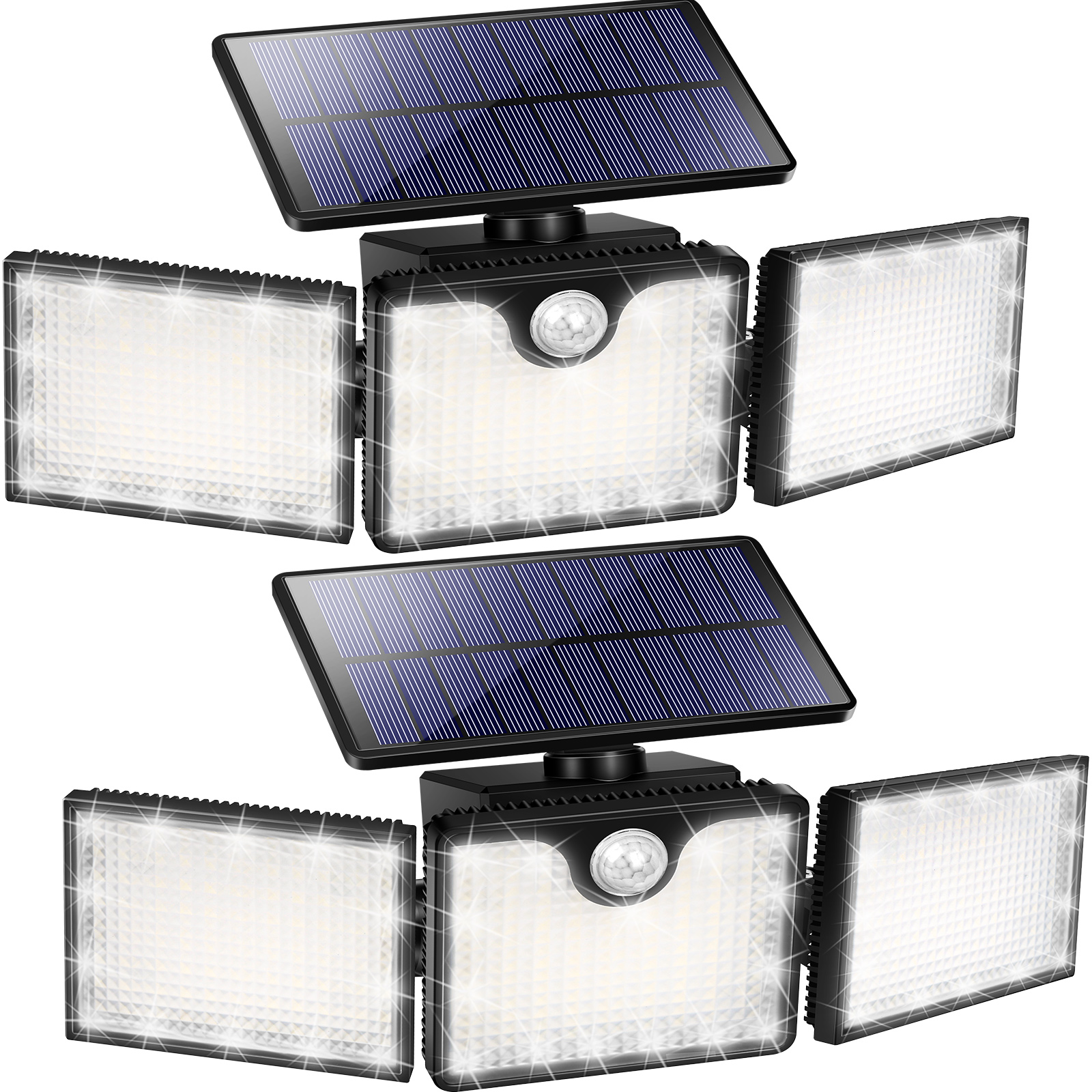 URPOWER Solar Flood Lights Outdoor, 226 LED 3 Heads Adjustable Solar Motion Sensor Lights, 270° Wide Angle Solar Powered Security Lights (2 Pack)